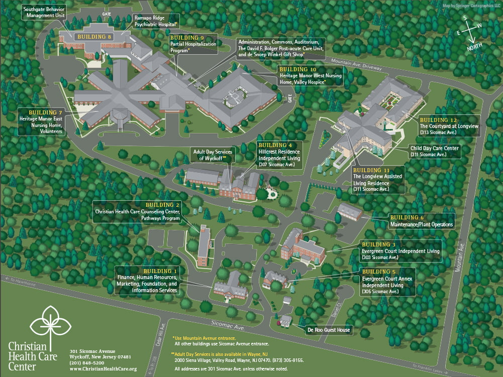Map of Christian Health Care Center