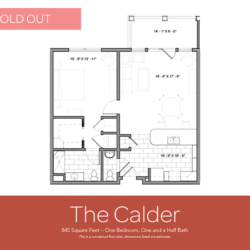 Calder floor plan sold out