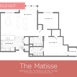 Matisse floor plan