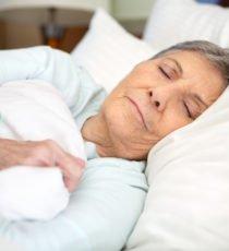 Senior women sleeping