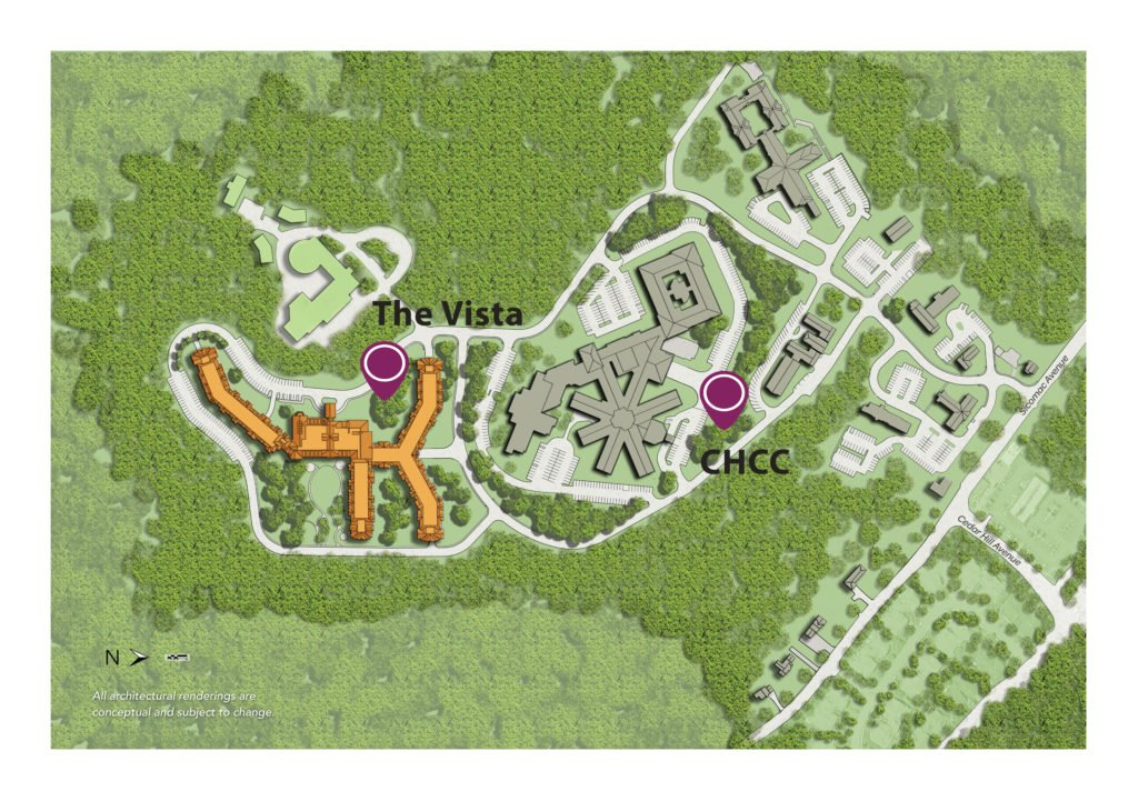 Map of CHCC and The Vista