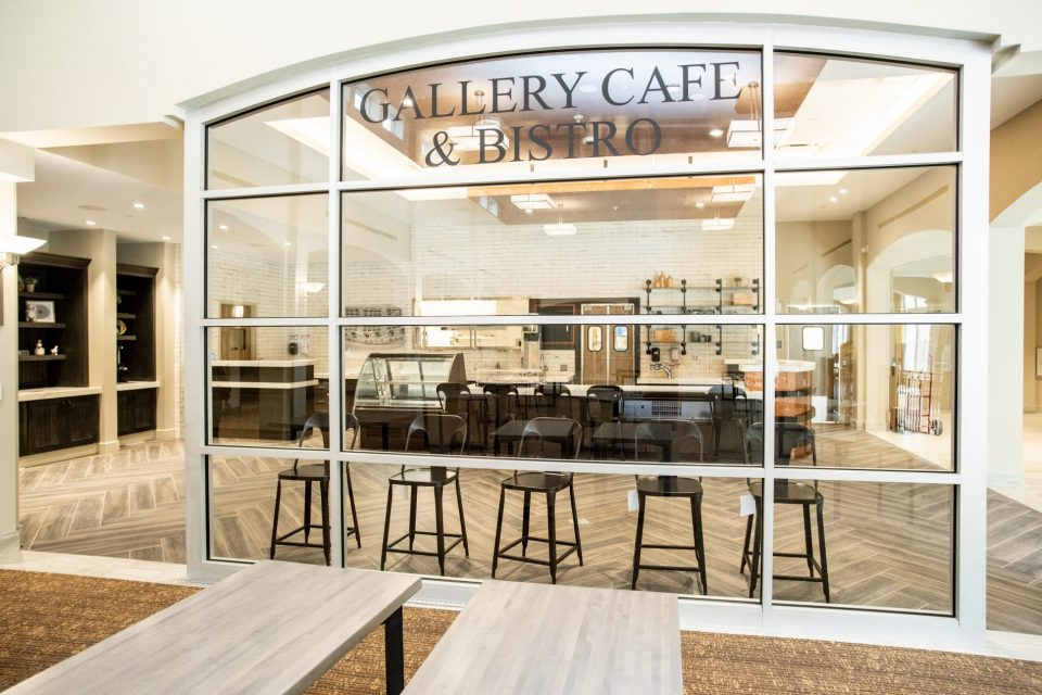 The Vista Gallery Cafe and Bistro window view