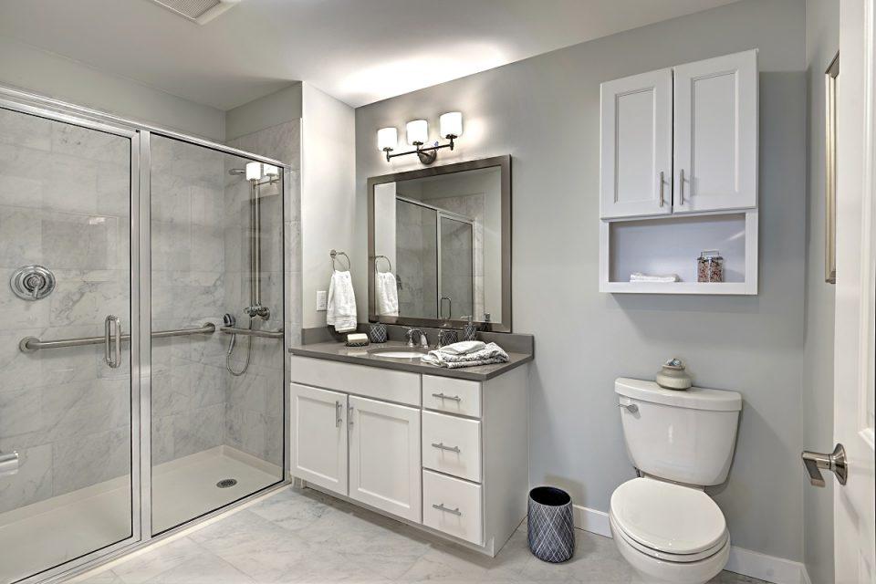A new apartment bathroom at The Vista.