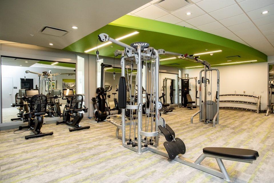 The Vista fitness center.