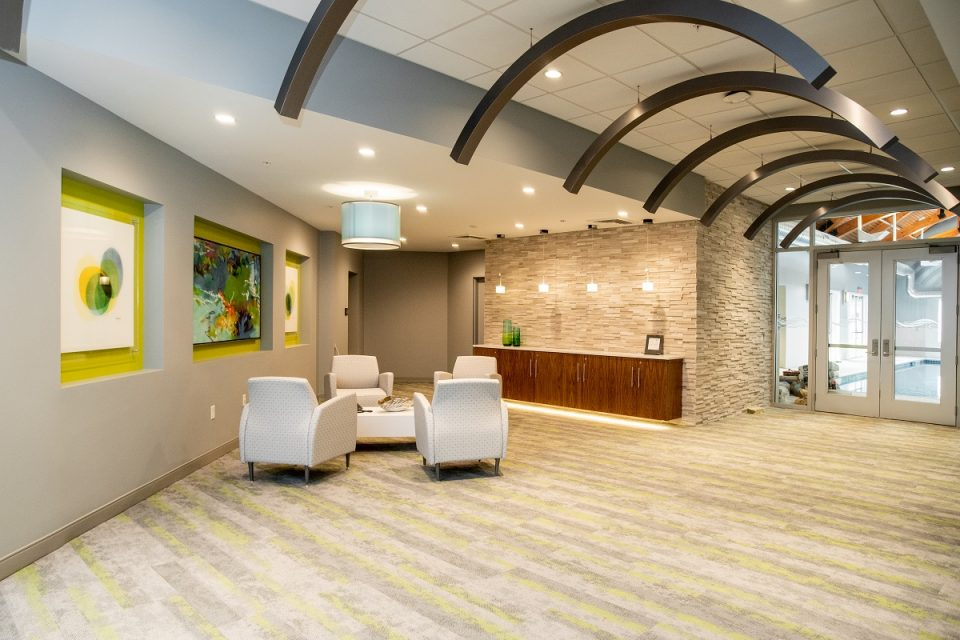 Lobby area at The Vista.