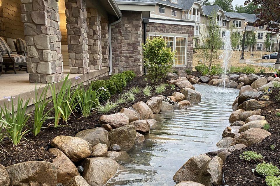 Small creek at The Vista.