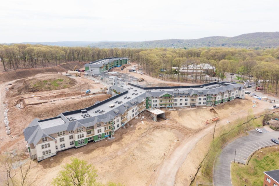 Outdoor aerial shot of The Vista May 2020