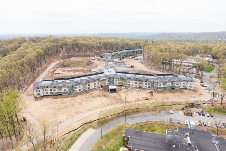 Aerial shot of The Vista May 2020