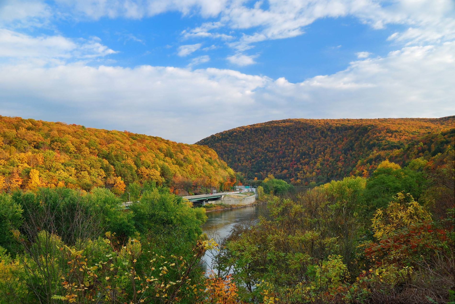 Delaware Water Gap fall photo