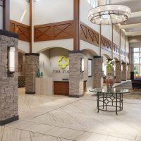 Rendering of The Vista's lobby